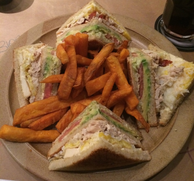 Determined to try every club sandwich in the world