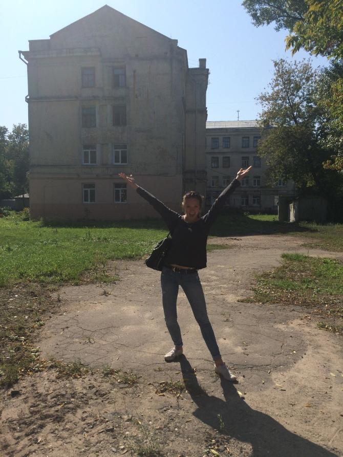 Jenny modelling our GORGEOUS university