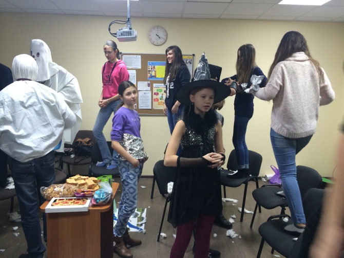 Our halloween themed club activities the other day