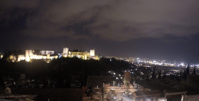 The Alhambra by night