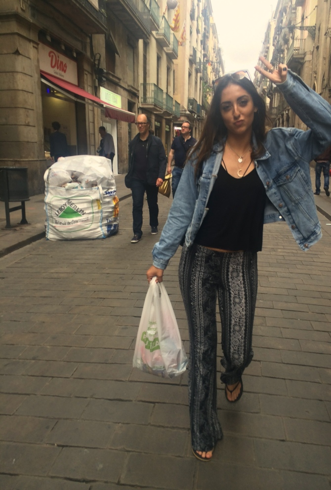 Glamorous grocery trip...