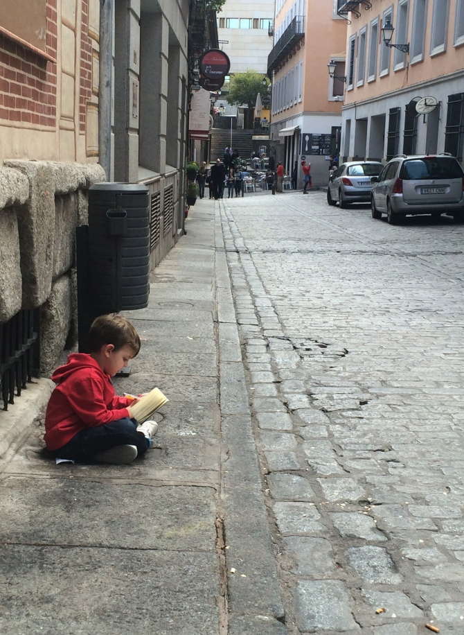 The CUTEST child I have ever seen - anyone that loves books as much as I do gets a thumbs up from me