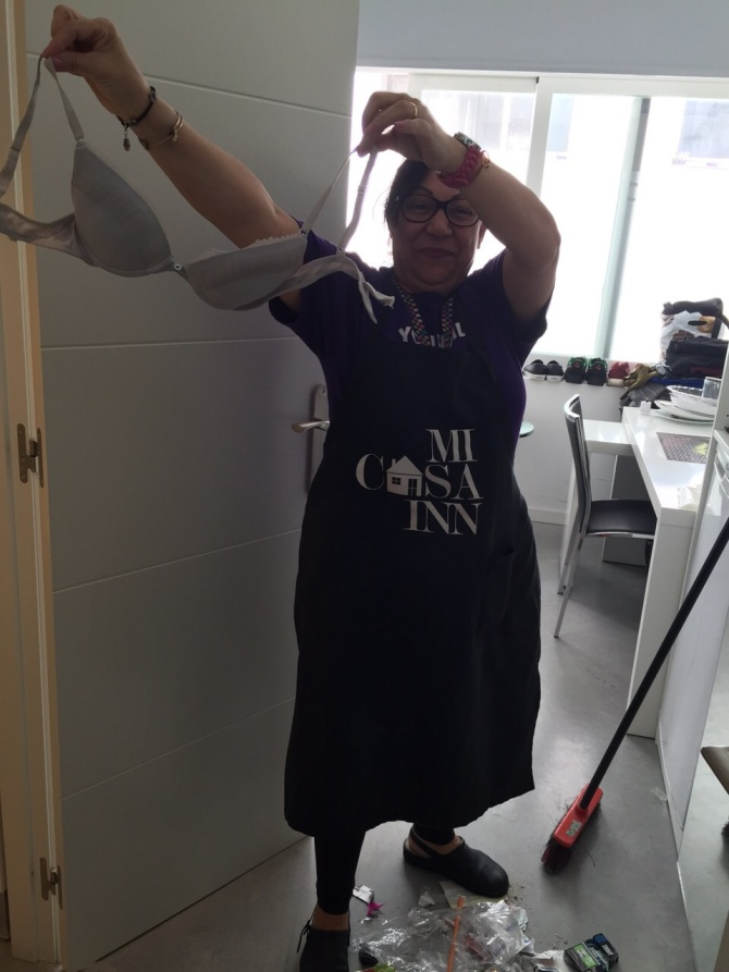 We even had our own cleaner, Maria, who never failed to provide entertainment