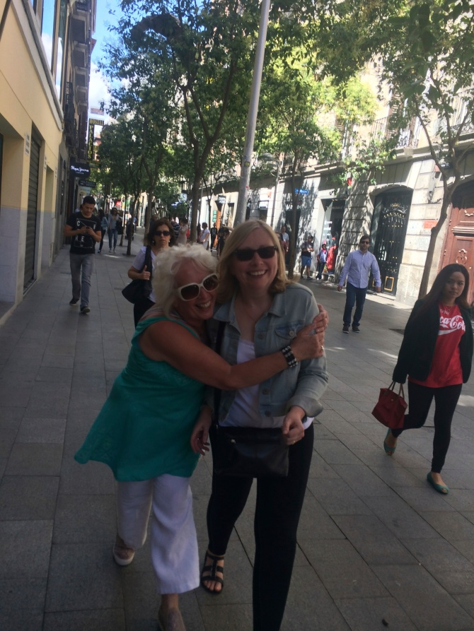 So good to see my Mom and Aunt in Madrid