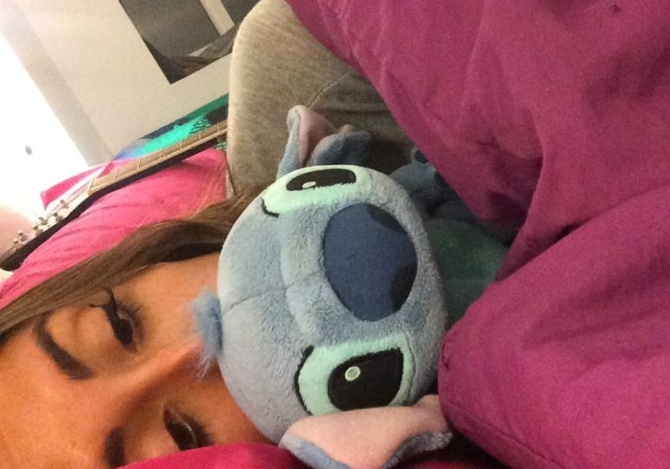 Me and stitch stepping out of our comfort zones