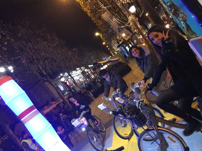 Doing our bit for climate change - powering the street lights by bike