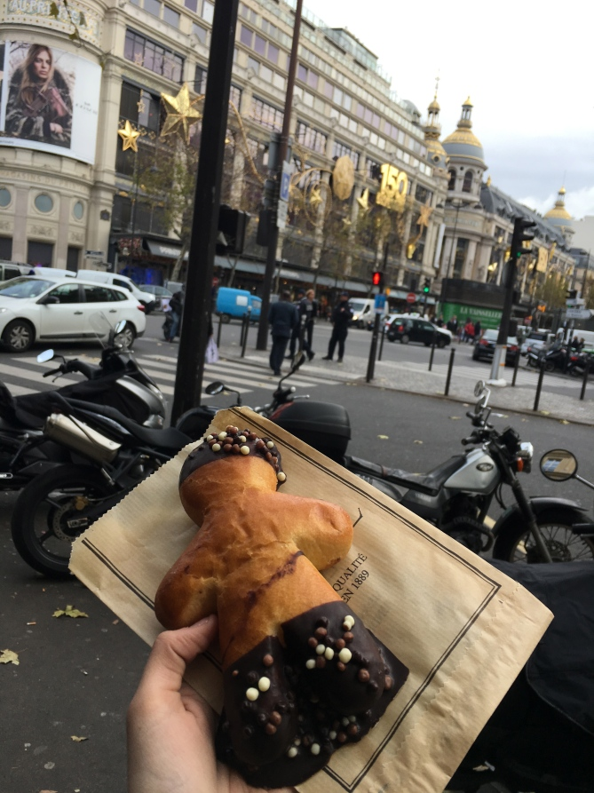Couldn't afford anything inside, so I bought a pastry from a street vendor instead